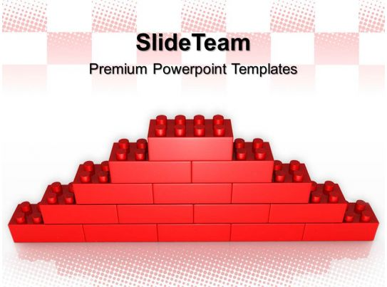 large building blocks powerpoint templates lego wall