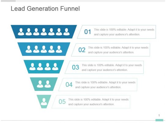 Lead generation funnel powerpoint presentation design for Lead generation plan template