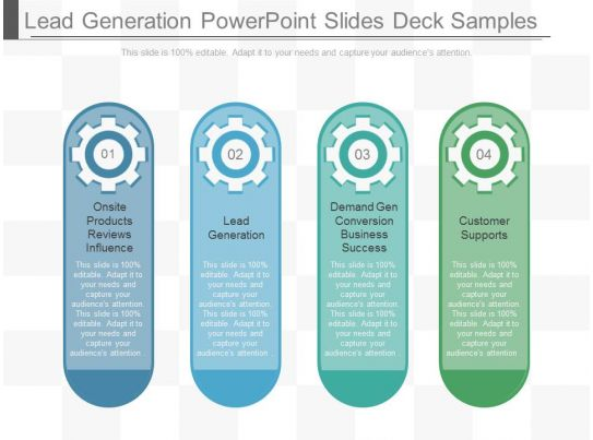 Lead generation powerpoint slides deck samples for Lead generation plan template