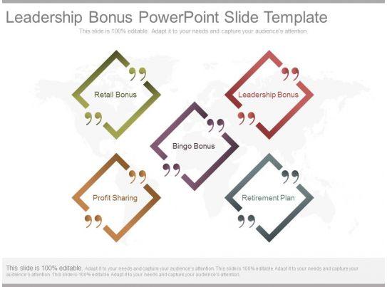 leadership bonus powerpoint slide template