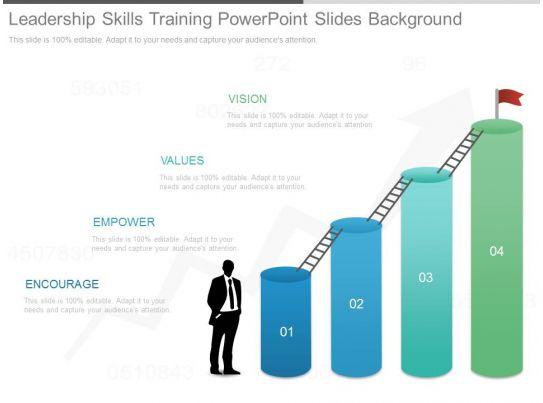 leadership skills training powerpoint slides background