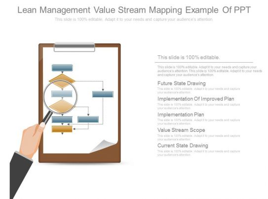 lean management value stream mapping example of ppt. Black Bedroom Furniture Sets. Home Design Ideas