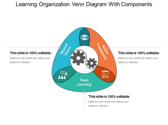 Learning Organization Venn Diagram With Components Ppt