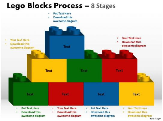 lego blocks process 8 stages style 2 powerpoint slides and ppt templates 0412 2 graphics. Black Bedroom Furniture Sets. Home Design Ideas