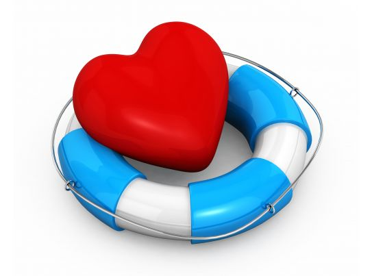 life saving ring with heart depicting safety and health