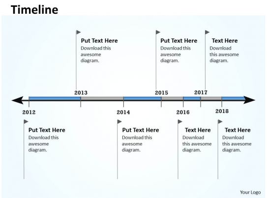 Linear Timeline And Roadmap For Business 0114 Templates