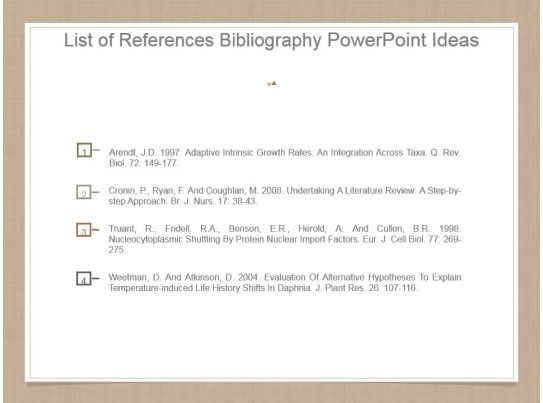 list of references bibliography powerpoint ideas template