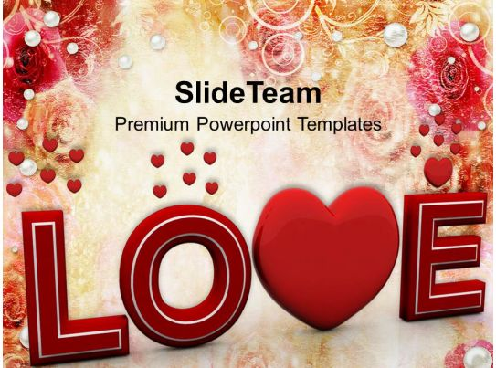Love Wedding Powerpoint Template 0610 | Powerpoint Presentation