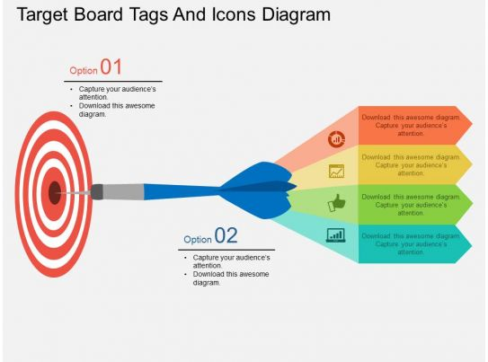 Lw Target Board Tags And Icons Diagram Flat Powerpoint