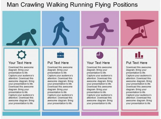 Man Crawling Walking Running Flying Positions Flat