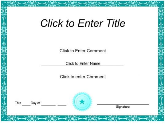 PowerPoint Certificate Templates – Certificates of Excellence Templates