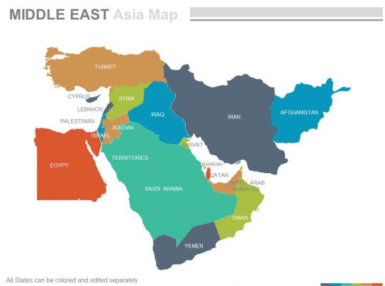 Countries Make Up Middle East Saubhaya