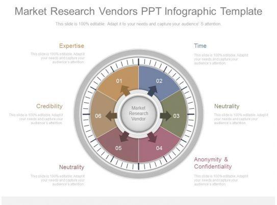 market research vendors ppt infographic template. Black Bedroom Furniture Sets. Home Design Ideas