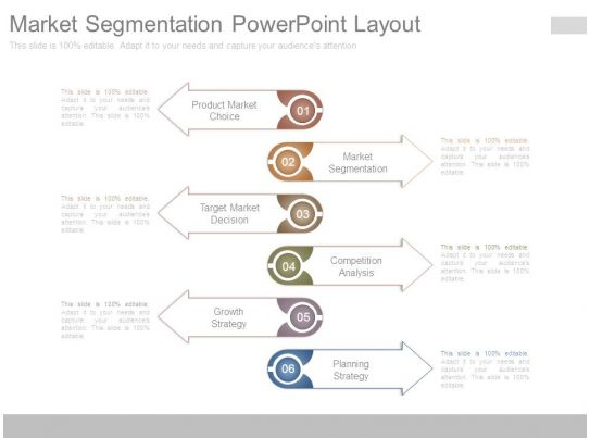 market segmentation powerpoint layout