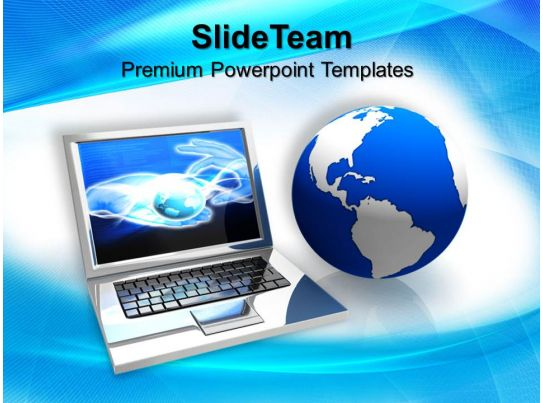 Marketing Concepts Powerpoint Templates Laptop Computer Process Ppt