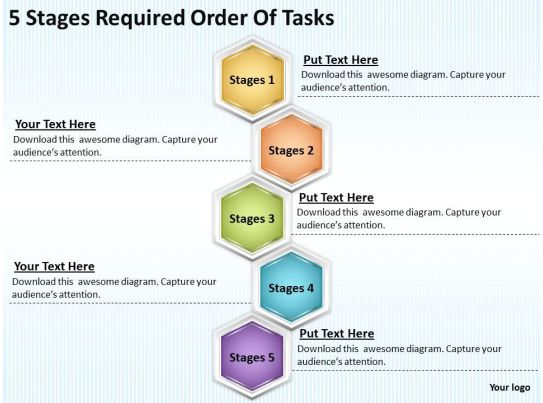 Marketing plan 5 stages required order of tasks powerpoint for Task order management plan template
