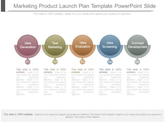 marketing product launch plan template powerpoint slide