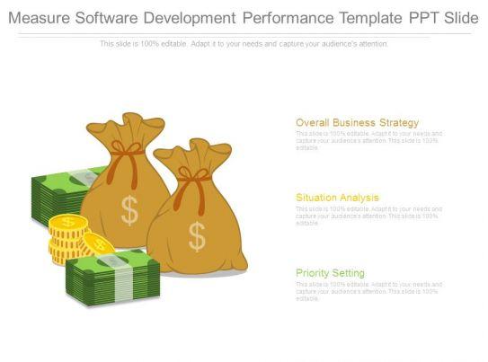 measure software development performance template ppt slide. Black Bedroom Furniture Sets. Home Design Ideas