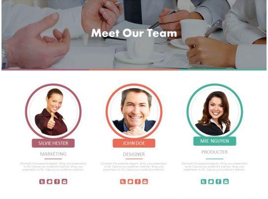 meet our team infographics diagram powerpoint slides slide04