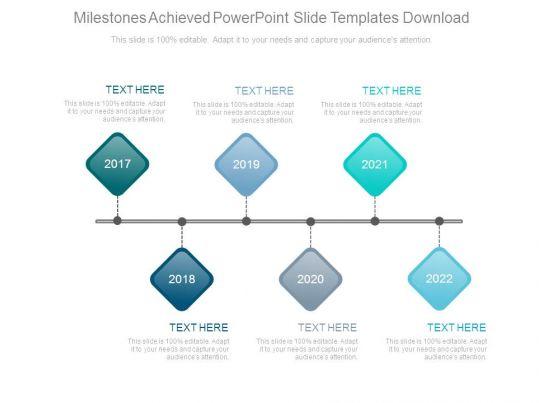 milestone chart templates powerpoint - milestones achieved powerpoint slide templates download