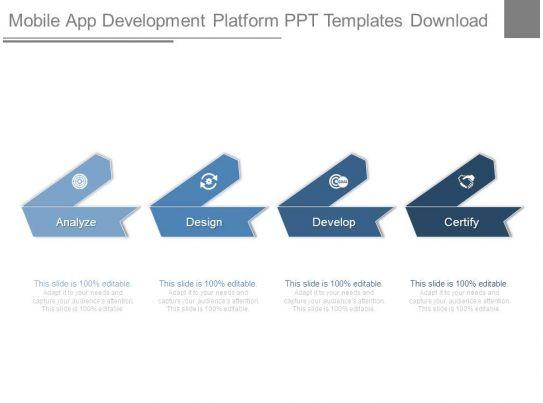mobile app development platform ppt templates download. Black Bedroom Furniture Sets. Home Design Ideas