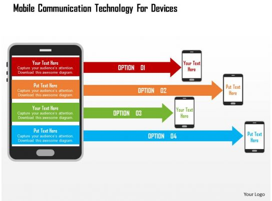 Mobile Communication Technology For Devices Flat