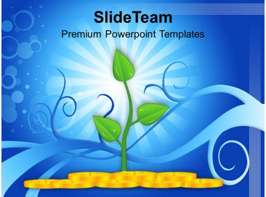 money plant shows growth success powerpoint templates ppt