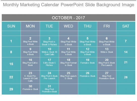 Weekly Calendar Powerpoint : Style variety calendar piece powerpoint