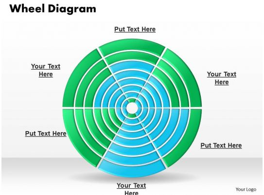 Multi Level Wheel Diagram Powerpoint Template Slide