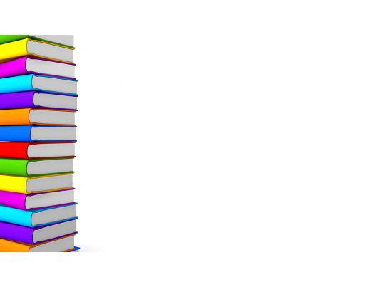 Multicolored Books Making Border Stock Photo Ppt Images