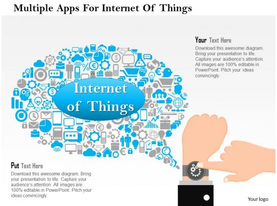 multiple apps for internet of things ppt slides graphics