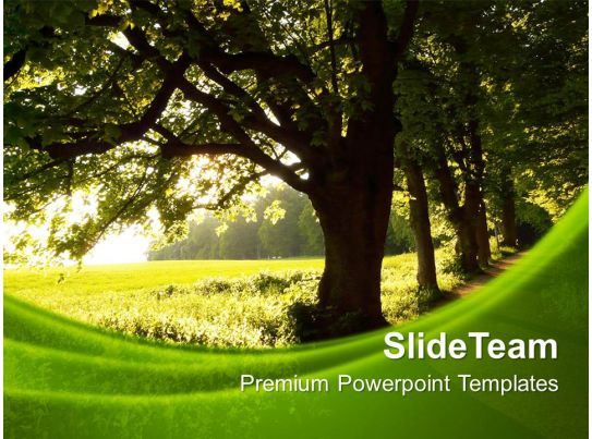 Nature Pics Powerpoint Templates Green Environment Process ...