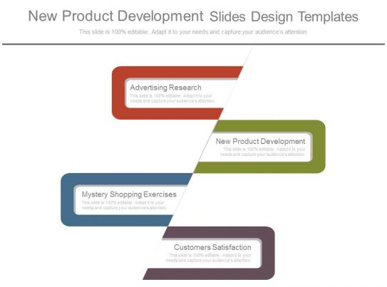 New product development slides design templates for New product specification template