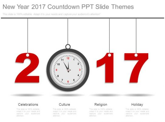 New Year 2017 Countdown Ppt Slide Themes