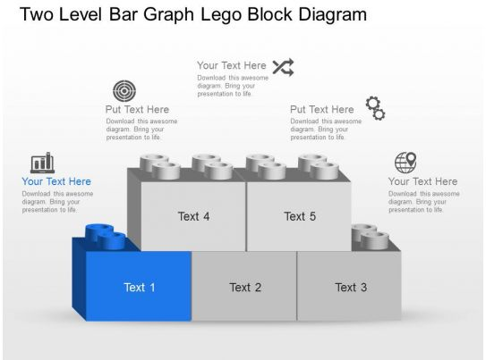 nu two level bar graph lego block diagram powerpoint. Black Bedroom Furniture Sets. Home Design Ideas