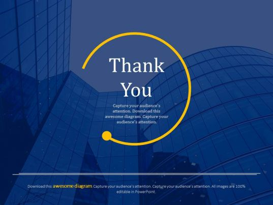 official thank you card for business powerpoint slides
