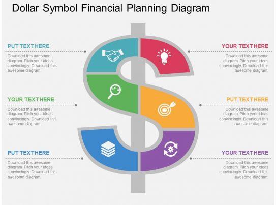 One Dollar Symbol Financial Planning Diagram Flat Powerpoint Design