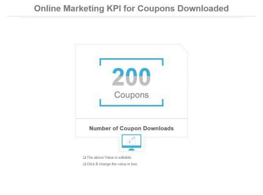 online marketing kpi for coupons downloaded ppt slide powerpoint