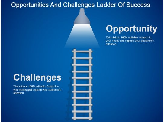 opportunities and challenges ladder of success powerpoint