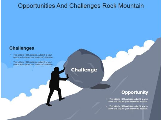 Opportunities And Challenges Rock Mountain Powerpoint ...