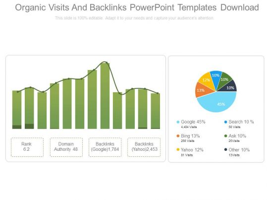 Organic visits and backlinks powerpoint templates download organic visits and backlinks powerpoint templates download template presentation sample of ppt presentation presentation background images toneelgroepblik Image collections