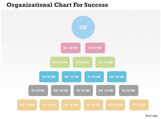 organizational chart for success flat powerpoint design