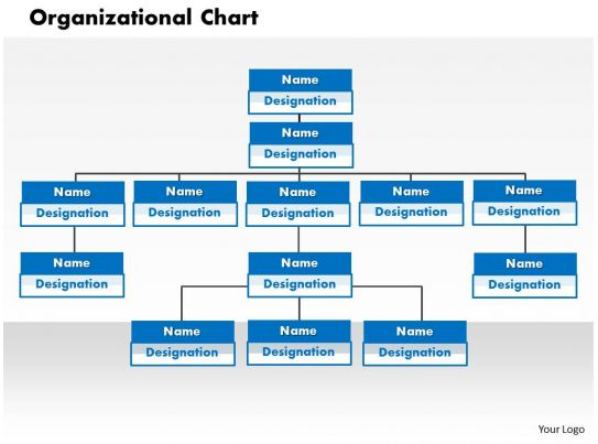 organizational chart powerpoint presentation slide template