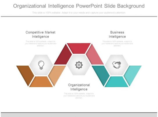 organizational intelligence powerpoint slide background