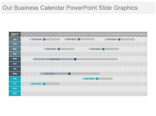 Calendar Art For Powerpoint : Our business calendar powerpoint slide graphics