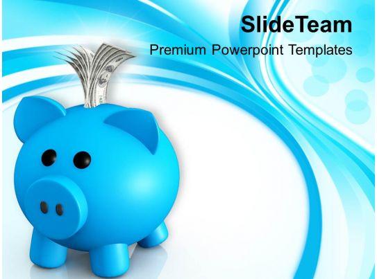 piggy bank money box powerpoint templates ppt backgrounds for slides 0213 powerpoint slide template presentation templates ppt layout presentation