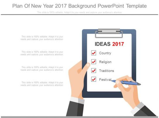 plan of new year 2017 background powerpoint template presentation graphics presentation. Black Bedroom Furniture Sets. Home Design Ideas