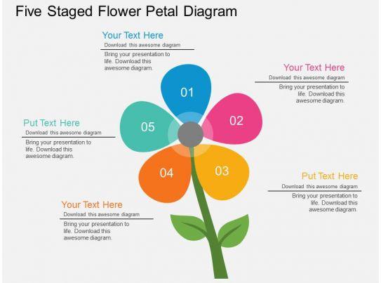 flower petal diagram pm five staged flower petal diagram flat powerpoint design
