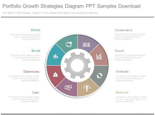 portfolio growth strategies diagram ppt samples download