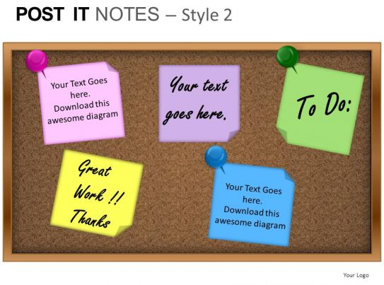Post-it-notes powerpoint templates and presentation slides